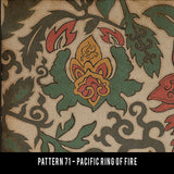 Pacific Ring of Fire Vinyl Rug - Pattern 71