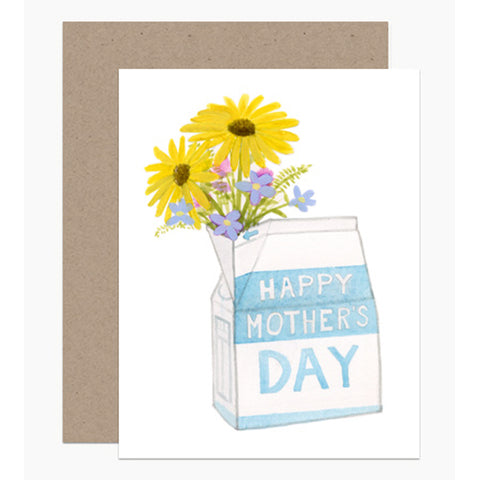 Milk Carton Mother's Day Card