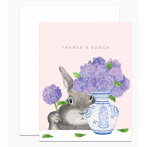 Thanks a Bunch Bunny Arranging Lilacs