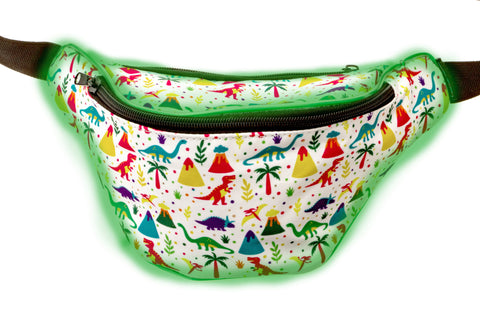 Light Up Dinosaur Fanny Pack