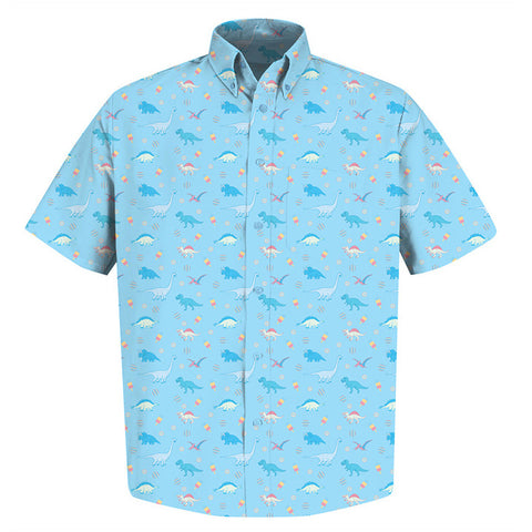 The Dinopopsicle Shirt - Light Blue