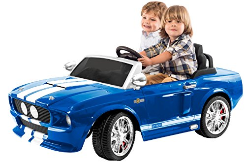 Thunderwheels ERO-SH12V-G 1967 Shelby Mustang Gt 500 Two Seater Ride on with LEDs and Sounds, Gray