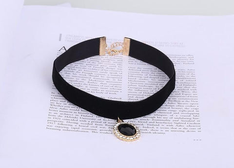 Velvet Crystal Choker Necklace For Women Fashion