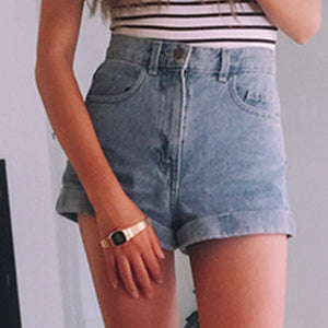 High Waist Denim Jean Shorts