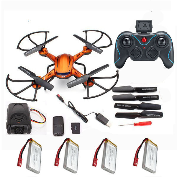 4Batteries RC quadrocopter JJRC H12C Quadcopter drone Remote Control Helicopter CF Mode Drone with Camera 2MP