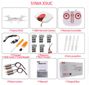 Newest SYMA X5UW & X5UC Drone 720P WIFI FPV With 2MP HD Camera Helicopter Height Hold One Key Land 2.4G 4CH 6Axis RC Quadcopter