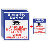 NEW 5x Premises Protected By 24 Hour Video Surveillance Sign Sticker Security Camera