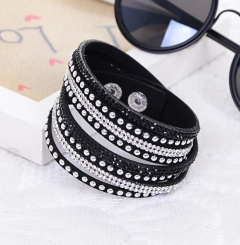 Leather Rivet Stud Bracelet