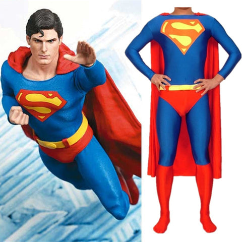 Adult/Childrens Mens Superman Boy/Men Superhero Costume Kids