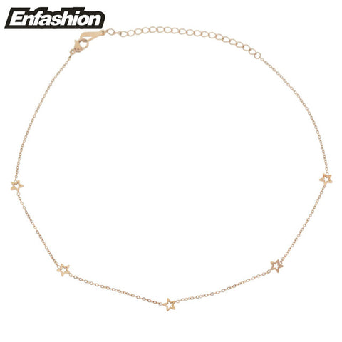 Geometric Gold Choker Necklace