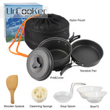 Outdoor Camping pan Hiking Cookware Backpacking Cooking