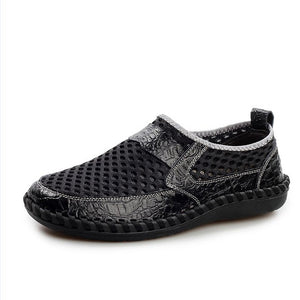 Leather Slip Men Loafers Shoe