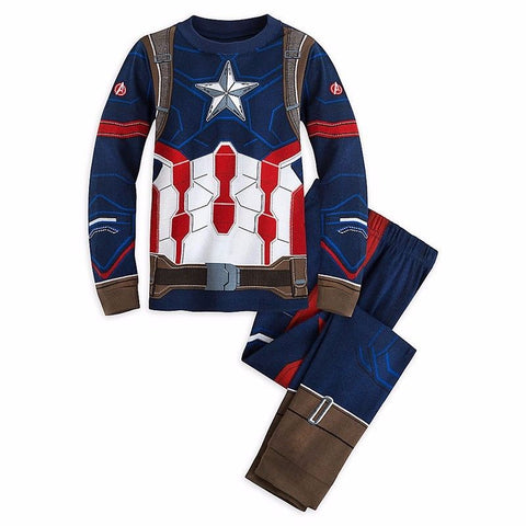 Long Sleeve Cartoon Spiderman Pajamas Baby Girl Boys Superman Sleepwear