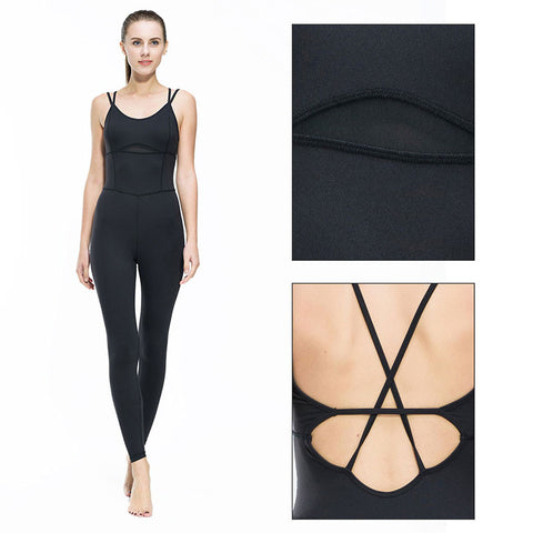 Women Yoga Jumpsuit Gym Running Sports Suit Lady Tight Clothing Breathable Quick Dry