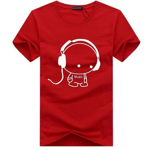 Headset Cartoon Printed T-Shirts