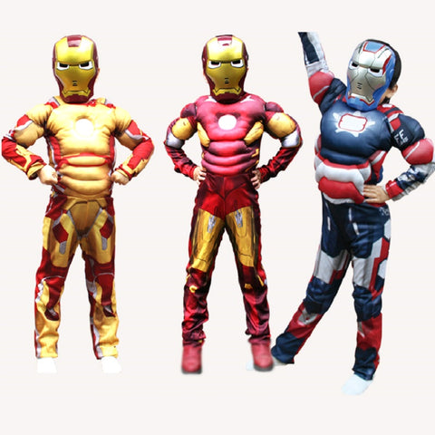 Children  iron man costumes and Superhero's