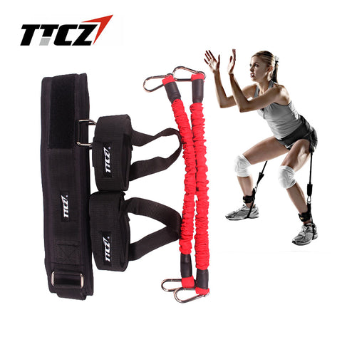 Fitness Bounce Trainer Rope Resistance Band Agility Training Strap  equipment