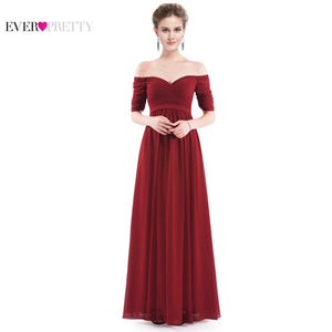 Floor Length Burgundy, Purple, Navy Blue Chiffon Formal Gowns