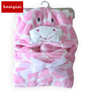 newborn baby Hooded blanket animal shapes cloak lovely soft towels blankets