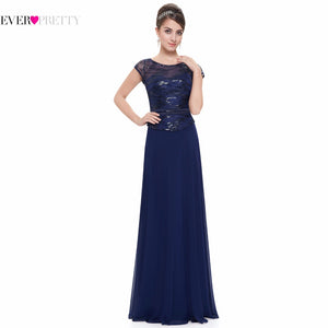 Short Sleeve Navy Blue Mother of the Bride Dresses