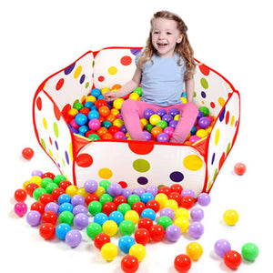 Hot Pop up Hexagon Polka Dot Children Ball Play Pool Tent Carry Tote Toys for children kids