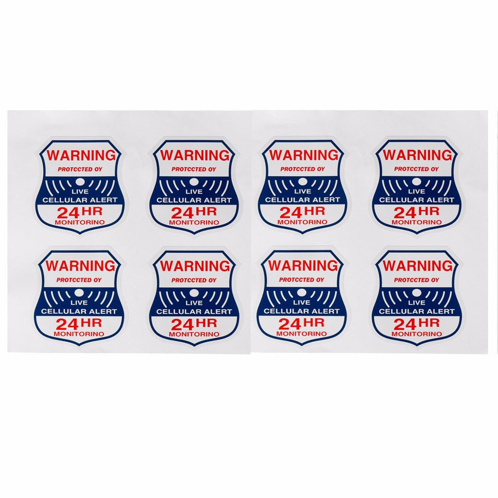 NEW 8pcs Alarm Burglar Security Surveillance Stickers Home Window Warning Decal Sign