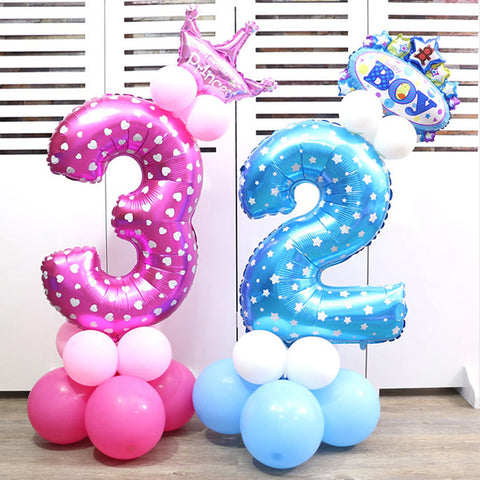 Foil Digit Helium Balloons Party Decor Supplies