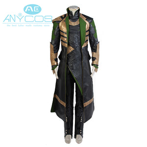 American Flim Thor Costume Cosplay The Dark World Avengers Loki Cosplay Long Coat Set Superhero Halloween Cosplay Costumes