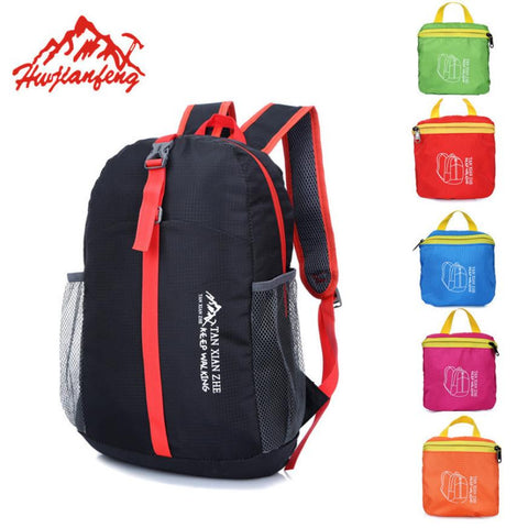 1Pcs Outdoor Waterproof Folding Backpack Travel Sport Hiking Bag Outdoor mountaineering bag#