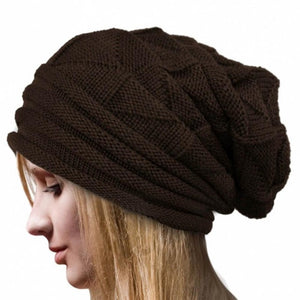 Women Winter Crochet Hat Wool Knit Warm Outdoor Sports Mountaineering Hat