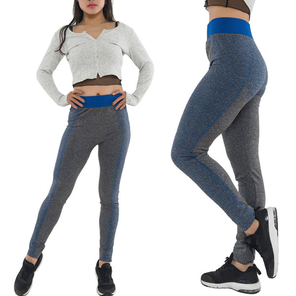1PC Solid Women Yoga Running Pants Cropped Leggings