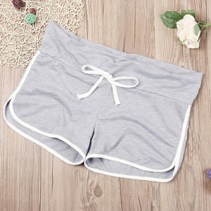 Women Yoga Shorts Lady's Hot Summer High Waist Drawstring Short Women sport suits #E0