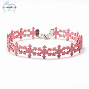 Necklace Women Gothic Lace Snowflake Choker Collar