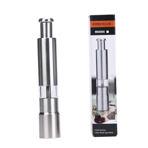1pc Stainless Steel Salt Herb Pepper Mill Grinder Kitchen Tool