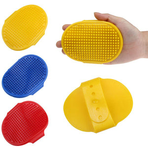 Pet Cleaning Oval Bath Brush Massage Brush Comb With Adjustable Strap products for dogs