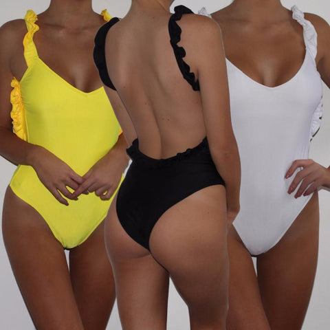 One-piece Swimsuit Backless Swimwear Bodysuit