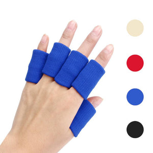 10pcs Stretch Elastic Basketball Finger Support Protective Gear Guard