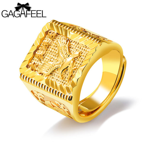 Eagle Wings Ring Free Size Men Jewelry Gold Color Open Rings Copper
