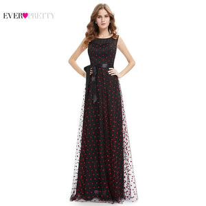 Elegant Round Neck Plus Size Long Prom Dress Lace