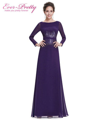 Sequins O-Neck Long Sleeve Mother of the Bride Dresses