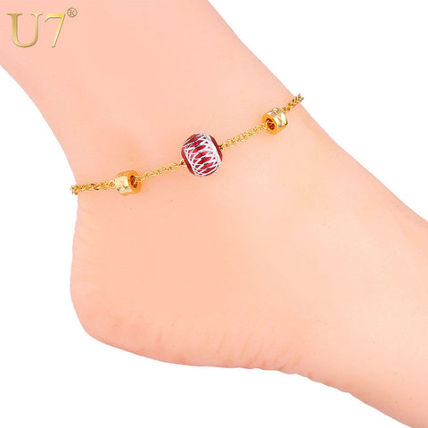 Fashion Body Jewelry Gold/Silver Color Anklet Bracelet For Women
