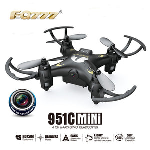 Hot sale FQ777-951C MINI With 0.3MP Camera Headless Mode 2.4G 4CH 6 Axis RC Quadcopter Drone RTF Support SD card  FQ777 951C