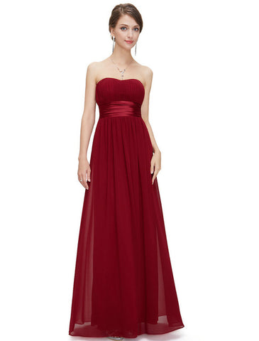 Sexy Strapless Chiffon 2017 Evening Party Dresses Style