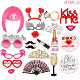 31 Pcs Bachelorette Party Photo Booth Props
