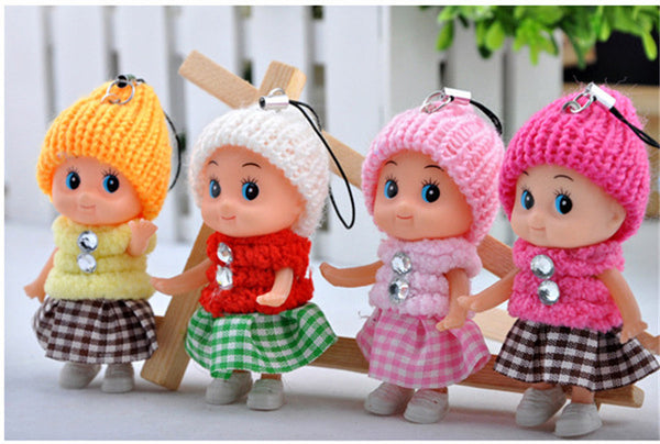 1PCS Cute new  Kids Toys Soft Interactive Baby Dolls Toy Mini Doll For girls and boys