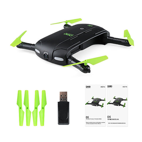 2017 New Mini Foldable RC Pocket Drone Dron WiFi FPV 0.3MP Camera Drones G-sensor Mode Waypoints RC Quadcopters VS JJRC H37 523