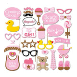 30pcs/set Baby Shower Photo Booth Props Photo booth It's A Boy Girl Baby Shower