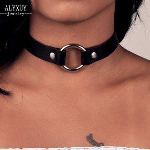 Fashion jewelry  round leather  choker necklace  gift for women girl  N1869