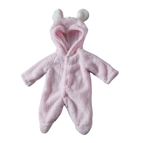 Newborn Baby Winter Infant Boy Girl Rabbit Ear Romper Hooded Jumpsuit