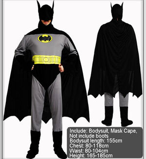 Adult Batman Party Bat  Suit For Women Men Superhero Costumes